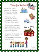 """Beginning of the Year """"Time for School"""" Poems"""
