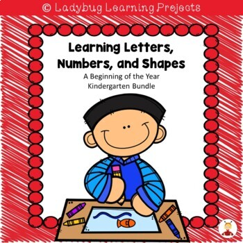 Beginning of the Year Worksheets for Letters, Numbers, and Shapes