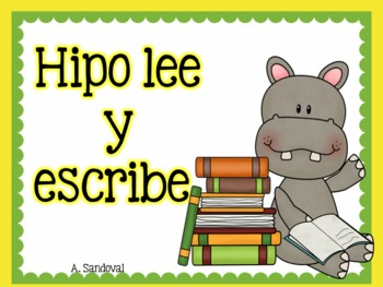 Beginning of the year- Hipo lee y escribe
