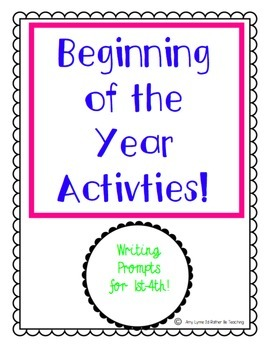 Beginning of the year activities (First week of school)