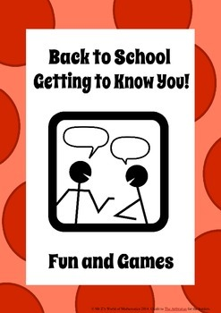 Beginning of the year activities get to know you games