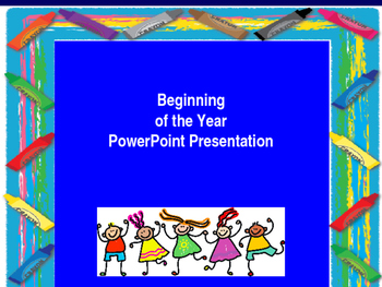 Beginning of the year parent orientation PPT