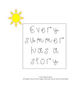 Beginning of year: Summer Story