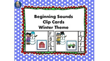 Beginning or Initial Sounds Winter Theme