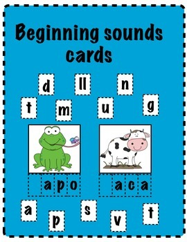 Beginning sound cards in Spanish