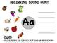 Literacy Center Beginning Sound Picture Hunt -- (Worksheet