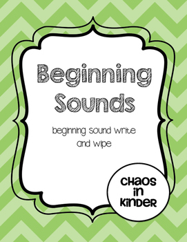 Beginning sounds write and wipe
