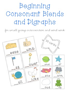 Blends and Digraphs Activity