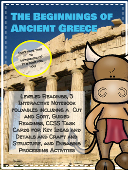 Beginnings of Greece Leveled Readings and Interactive Note