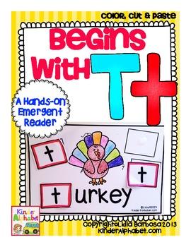 Begins with Tt {a Hands-On Emergent Reader}