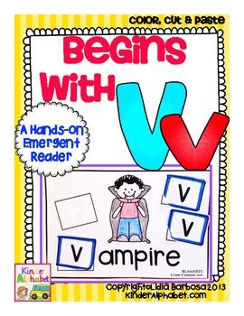Begins with Vv {a Hands-On Emergent Reader}