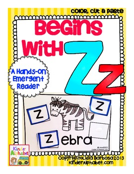 Begins with Zz {a Hands-On Emergent Reader}