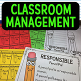 Classroom management charts, forms, and notes