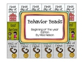 Behavior Beads (Beginning of the Year edition)
