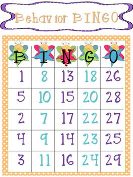 Behavior Bingo Bee Theme