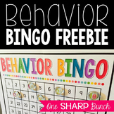 Behavior Bingo FREEBIE {Classroom Management}