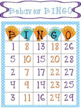 Behavior Bingo Ocean Theme