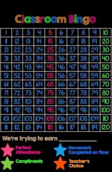 Behavior Bingo Template