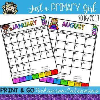 Behavior Calendar -