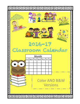 Behavior Calendars 2016-17