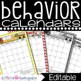 Behavior Calendars FULL YEAR 2016-2017 ***COMPLETELY Editable***
