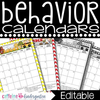 Behavior Calendars Editable 2016-2017