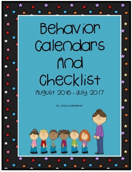 Behavior Calendars and Checklist 2016-2017