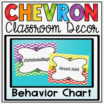 Behavior Clip Chart {Primary Colors Chevron Classroom Deco