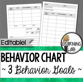 Behavior Chart - 3 Behavior Goals