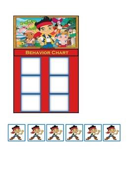 Behavior Chart (6 Boxes) Jake and the Neveland Pirates