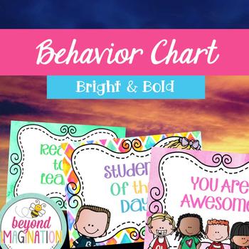 Behavior Chart Bright and Bold Themed | Fun Classroom Decor