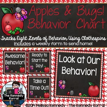 Behavior Chart: Look at Our Behavior {Bugs and Apples}