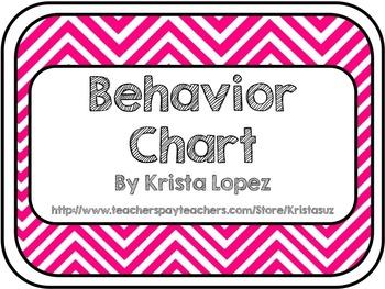 Behavior Chart ~ Chevron
