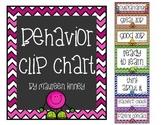 Behavior Chart Chevron