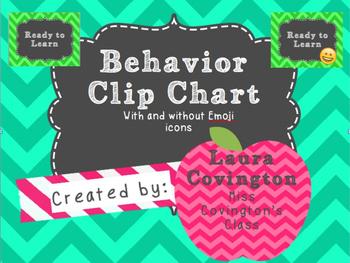 Behavior Chart Chevron Emojis