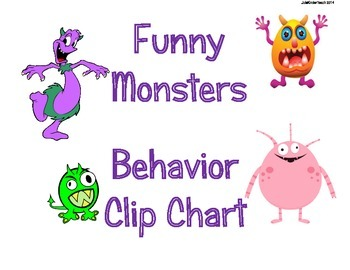 Behavior Chart Clip System & MANAGEMENT SYSTEM** Funny Mon