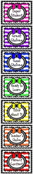 Behavior Chart Clip chart with Punch Cards and HW Sheet!