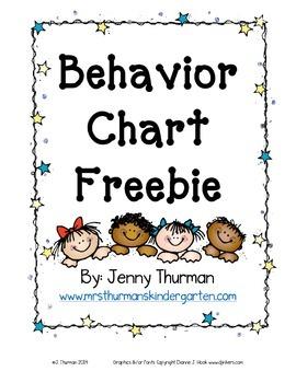 Behavior Chart Freebie