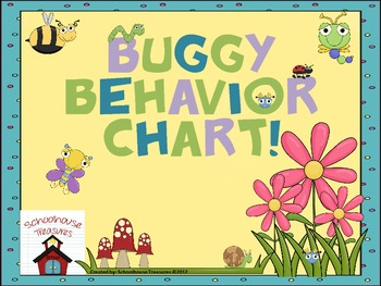 Behavior Chart: Going Buggy Theme -2 Versions