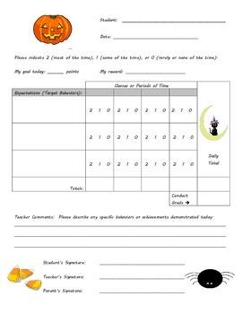 Behavior Chart - Halloween Theme