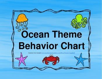 Behavior Chart Ocean Theme
