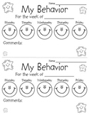 Behavior Chart Sheet