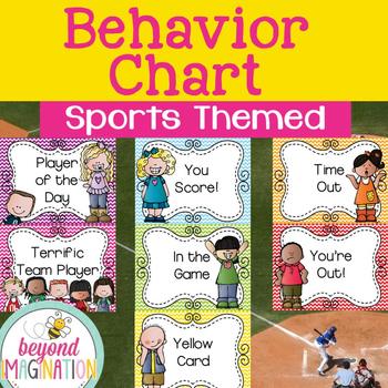 Sports Themed Behavior Clip Chart | Classroom Printable |
