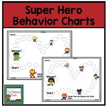Behavior Chart- Super Heroes