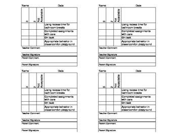 Behavior Checklist - Super Simple!