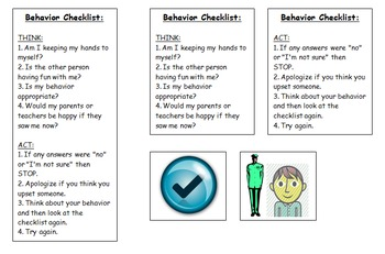 Behavior Checklist to Keep in Pocket