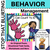 Behavior Classroom Management: Stop that Blurting Grades K-3