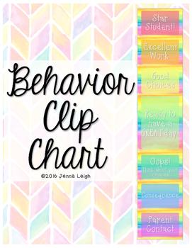 Behavior Clip Chart (Rainbow)