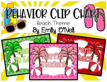 Behavior Clip Chart (Beach Theme)