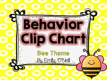 Behavior Clip Chart (Bee Theme)